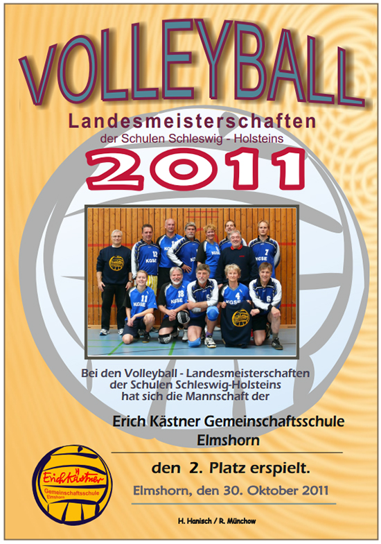 Urkunde Volleyball 2011